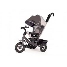 """Детский трехколесный велосипед Trike City, надувные колеса 10""""/8"""", цвет серый (JW7M)"""