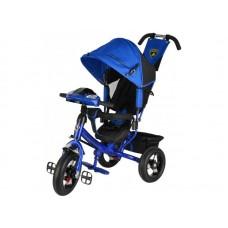 """Велосипед 3-х колесный Trike Lamborgini с фарой, наклонная спинка, надувные колеса 12""""/10"""" синий (L2BE)"""