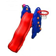 Детская горка с баскетбольной корзиной RS M0262 (мяч в подарок)