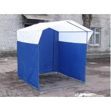 Торговая палатка Домик 1,9х1,9 м синий/белый