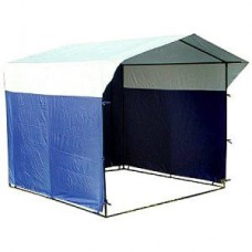 Торговая палатка Домик 2,5х1,9 м разборная синий/белый