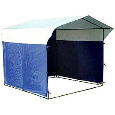 Торговая палатка МИТЕК 3,0х1,9 м разборная синий/белый фото