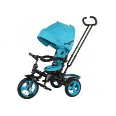 """Велосипед трехколесный MODI NEO 4, надувные колеса 12""""/10"""", вращающееся сиденье на 180 градусов цвет голубой (N4B)"""