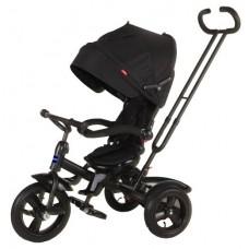 """Велосипед трехколесный MODI NEO 4, надувые колеса 12""""/10"""", вращающееся сиденье на 180 градусов цвет черный (N4MB)"""