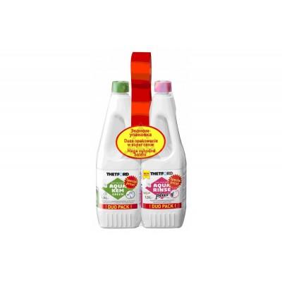 Набор жидкостей для биотуалета THETFORD Duopack Aqua Rinse + Aqua Kem Green фото