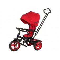 """Велосипед трехколесный MODI NEO 4, надувные колеса 12""""/10"""", вращающееся сиденье на 180 градусов цвет красный (N4R)"""