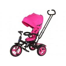 """Велосипед трехколесный MODI NEO 4, надувные колеса 12""""/10"""", вращающееся сиденье на 180 градусов цвет розовый (N4V)"""