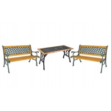 Стол и 2 кресла + 2 скамьи, Garden4you SH6674, SH6675, SH6610