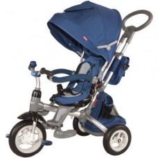 """Велосипед трехколесный Modi Power, надувные колеса 12""""/10"""", вращающееся сиденье цвет синий (ST10B)"""