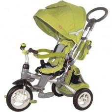 """Велосипед трехколесный Modi Power, надувые колеса 12""""/10"""", вращающееся сиденье цвет зеленый (ST10G)"""