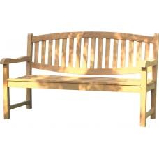 Садовая скамья Sundays LION TGF-029 А с подушкой, 120см, тик