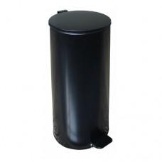 Урна металлическая с педалью 30 литров (Черная)