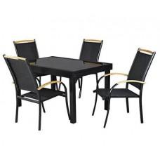 Стол и 6 стульев + 2 складных стула, Garden4you 0404, 0404/1, 0404/2