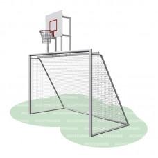 Ворота с баскетбольным щитом (сетка в комплекте) Романа 203.10.00