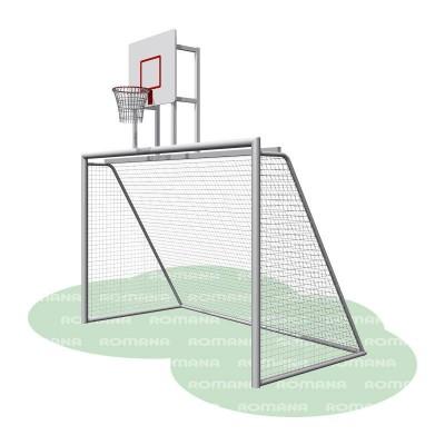 Ворота с баскетбольным щитом (сетка в комплекте) Романа 203.10.00 фото