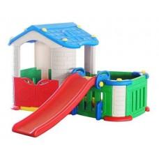 Детский игровой комплекс 3 в 1 большой дом + горка