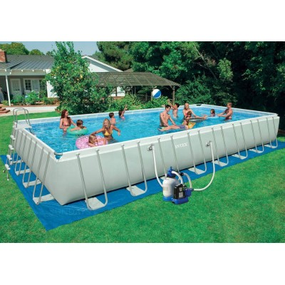 Каркасный бассейн с комплектом 975х488х132 см, Ultra Frame, Intex 28374/54988 фото