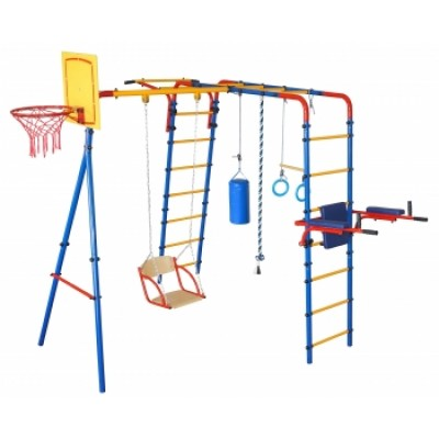 Игровая площадка Юный Атлет Уличный-Плюс синий-жёлтый-красный фото