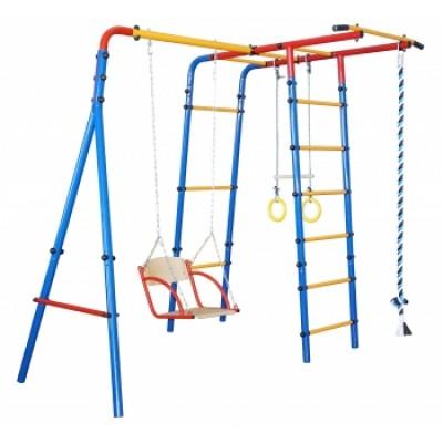 Игровая площадка Юный Атлет Уличный-Лайт синий-жёлтый-красный фото