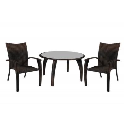 Стол и 4 кресла WICKER, Garden4you 12697, 12698