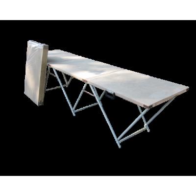 Торговый стол складной 2,7*0,6 (фанера 3 мм) фото