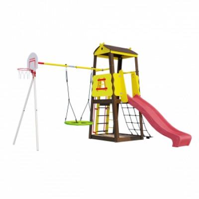Детская игровая площадка Избушка ГНЕЗДО качели Romana R 103.29.04 NEW фото