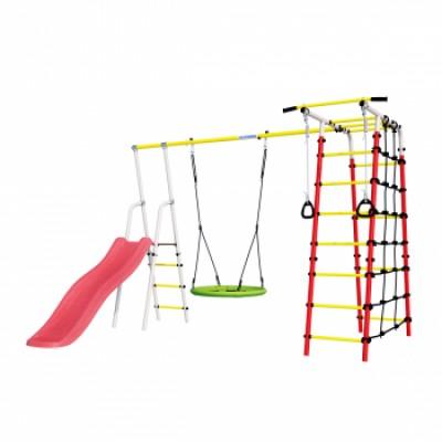 Детская игровая площадка Богатырь Плюс 2  ГНЕЗДО качели Romana R 103.12.05 NEW фото
