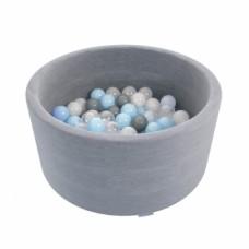 Сухой бассейн Romana Easy ДМФ-МК-02.53.03 серый с серыми шариками
