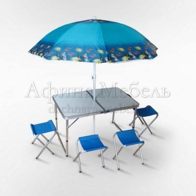 Набор складной мебели для пикника с зонтом
