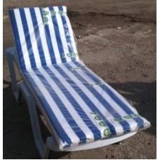Матрац Бриз для лежака в бело-синюю полосу