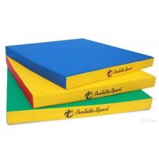 Мат гимнастический Perfetto Sport №2 100х100х10 см синий/жёлтый