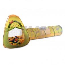 Домик игровой с туннелем + 100 шариков CBH-22