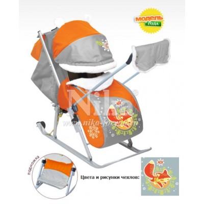 Санки-коляска «Ника Детям 6» складные с колесом арт. НД6