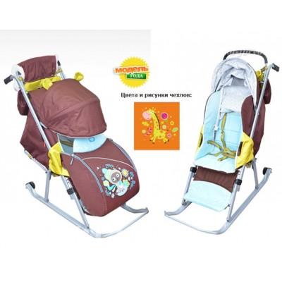 Санки-коляска «Ника Детям 5» складные с колесом арт. НД5