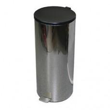 Урна металлическая с педалью 50 литров (Хром)