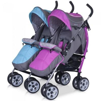 Детская прогулочная коляска для двойни EASYGO DUO COMFORT фото
