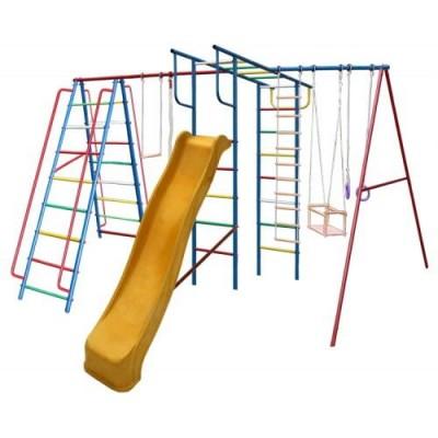 Игровой комплекс для дачи Вертикаль-А1+П МАКСИ с горкой 3,0 м фото