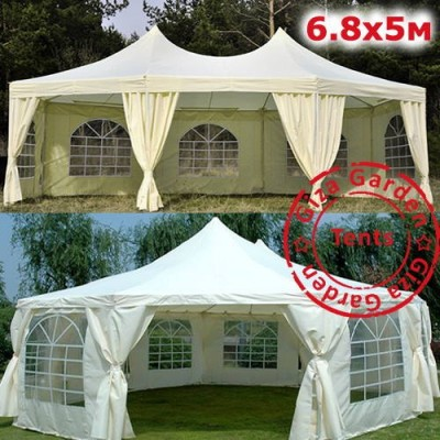 Восьмиугольный тент-шатер Giza Garden 5х6,8 м фото