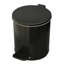 Урна металлическая с педалью 7 литров (Черная)