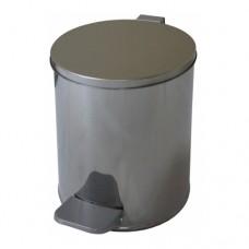 Урна металлическая с педалью 7 литров (Хром)