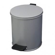 Урна металлическая с педалью 7 литров (Серая)