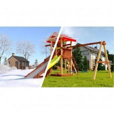 Детская площадка из дерева Савушка 4 сезона - 3