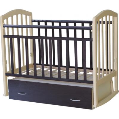 Детская кроватка Антел Алита 4 (Венге, Махагон-белый, Белый-махагон, Венге-слоновая кость, Слоновая кость-венге) фото