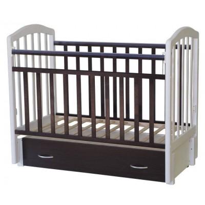 Детская кроватка Антел Алита 6 (Венге, Махагон-белый, Белый-махагон, Венге-слоновая кость, Слоновая кость-венге) фото
