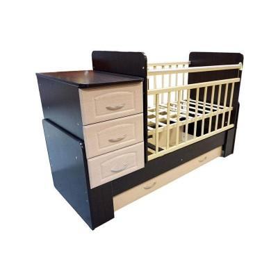 Кровать-трансформер Антел Ульяна 1 (Венге/клен, Слоновая кость, Венге) фото
