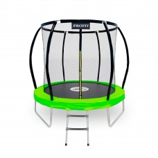 Батут ProFit Premium Green 252 см - 8 ft с защитной сеткой и лестницей