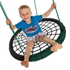 Детские качели-гнездо KBT Oval (черный/синий)