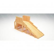 Зимняя деревянная игровая горка Савушка Зима wood - 1