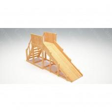 Зимняя деревянная игровая горка Савушка Зима wood - 2