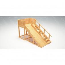 Зимняя деревянная игровая горка Савушка Зима wood - 3